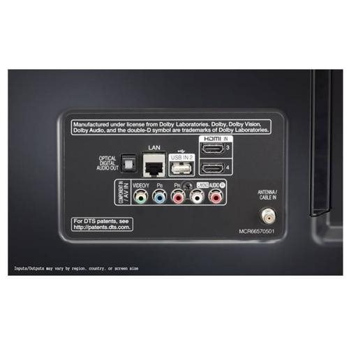 """LG UJ6300 55UJ6300 55"""" 2160p LED-LCD TV - 16:9 - 4K UHDTV - Black - ATSC - 178 / 178 - 3840 x 2160 - DTS HD, ULTRA Surround - 20 W RMS - LED Backlight - Smart TV - 3 x HDMI - USB - Ethernet - Wireless LAN - PC Streaming - Internet Access 2"""