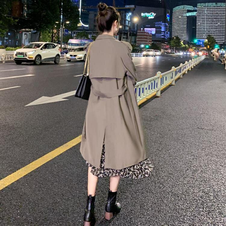 風衣女中長款小個子2020秋季裝新款韓版寬鬆氣質今年流行外套咖色