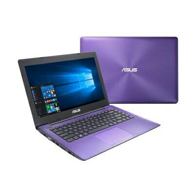【純米小舖】ASUS X453SA 14吋四核筆電(N3700/500G/4G/1.82kg/三色)-個性紫