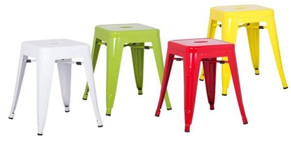 《Chair Empire》Tolix Stool 普普風格 簡約風餐椅 法國復古工業椅矮凳 復刻版 鐵椅