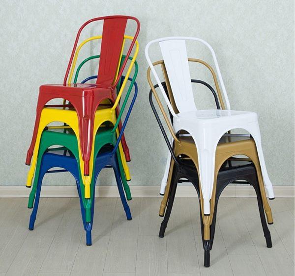 《Chair Empire》法國復古工業椅tolix a chair 經典鐵椅 作舊處理 餐椅 復刻版