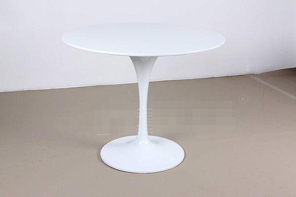 《Chair Empire》白色70CM鬱金香桌 白色圓桌Tulip Table 喇叭桌 咖啡桌 會客桌 洽談桌 陽台桌