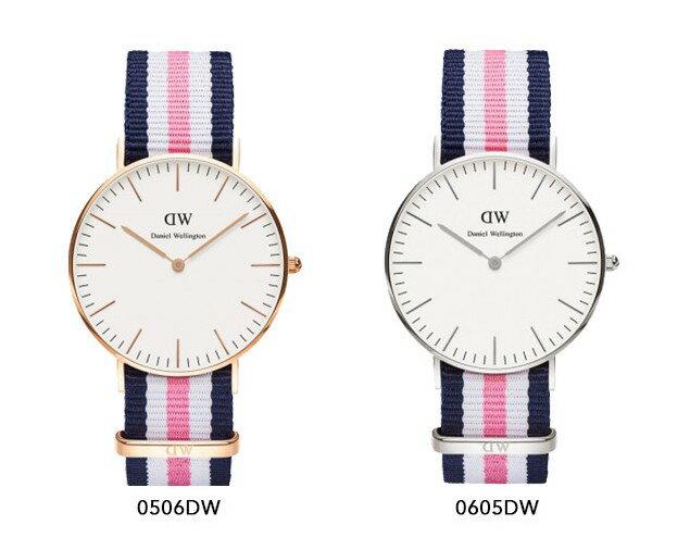 瑞典正品代購 Daniel Wellington 0506DW 玫瑰金 尼龍 帆布錶帶 女錶手錶腕錶 36MM 1