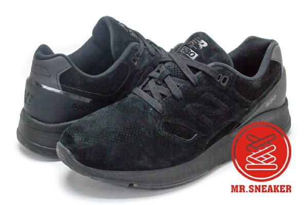 ☆Mr.Sneaker☆NEWBALANCE530限定款麂皮全黑MRL530SB男款