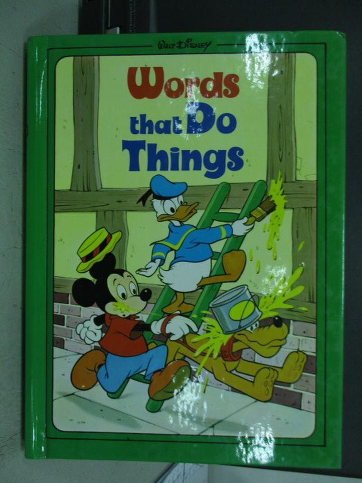~書寶 書T3/兒童文學_QMV~迪士尼~Words that do things