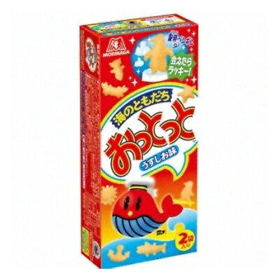 森永製菓 盒裝鯨魚餅 小魚餅乾 -薄鹽味 2袋入 52g おっとっと うすしお味