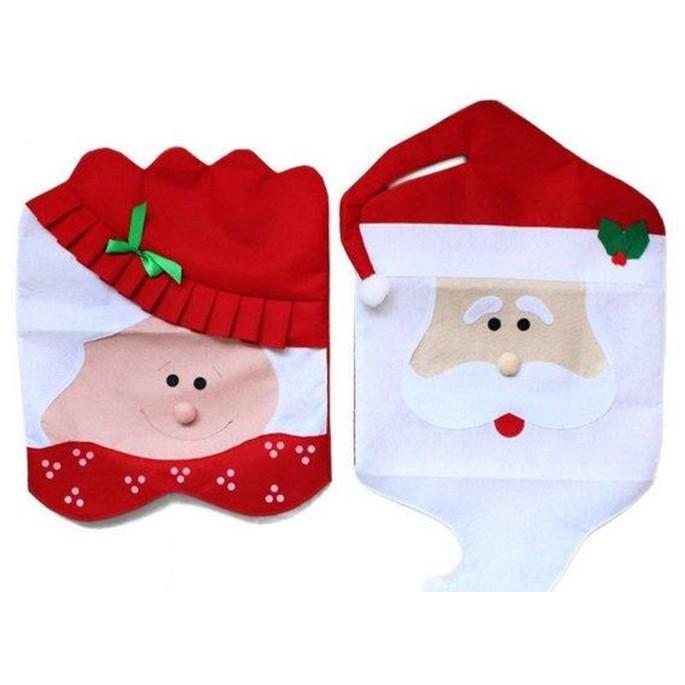 【小 大SK聖誕椅套】 老公公 老太太聖誕椅套 聖誕椅子套 聖誕節用品餐桌裝飾 DIGITAL INTERN1226劉