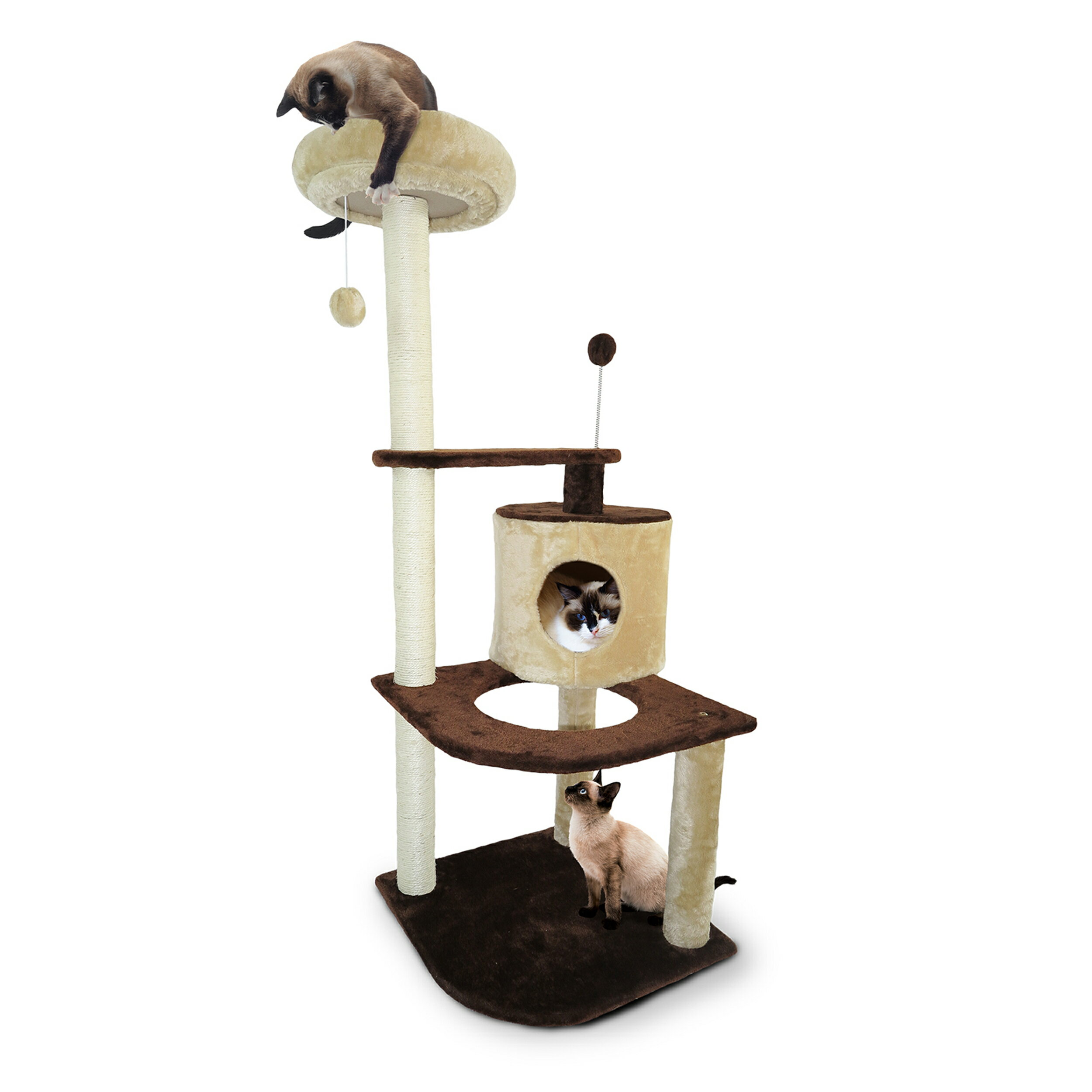 Furhaven Pet Cat Tree Tiger Tough House Furniture For Cats Kittens