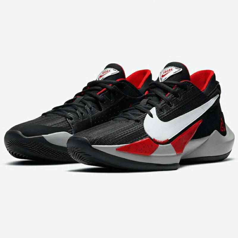 【領券最高折$300】Nike ZOOM FREAK 2 EP 男鞋 籃球 字母哥二代 緩震 穩定 氣墊 靈敏 黑 紅【運動世界】CK5825-003