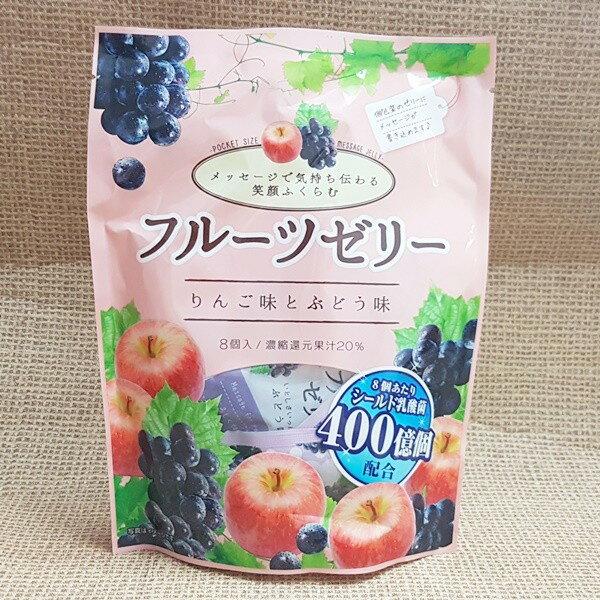 (日本)SHNKO乳酸菌果汁果凍(蘋果&葡萄)1包240公克(8入)特價105元【4901814960404】