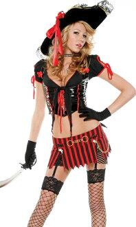[漫朵拉情趣用品]美國【Forplay】鬼盜船海盜系列-皮革質感兩件式性感海盜裝 DM-76035