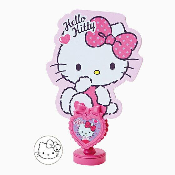 【真愛日本】15071700018 立式便條夾本-KT愛心緞帶 三麗鷗 Hello Kitty 凱蒂貓 便條夾本 留言板