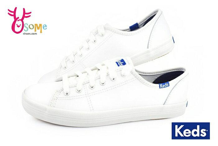 Keds 成人女款 帆布鞋  經典 皮革 休閒鞋 小白鞋 H9856#白色 奧森