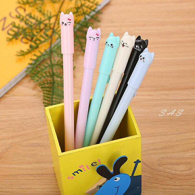 台灣現貨 熱銷 貓咪蓋子造型筆 中性筆 0.5mm 滑順好寫 婚禮小物 可愛貓咪筆 喵喵筆 498