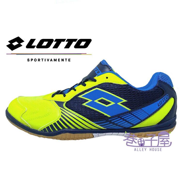 LOTTO樂得-義大利第一品牌 男款TACTO II5 旗艦款專業足球鞋 室內運動鞋 [S7183] 螢光/藍【巷子屋】