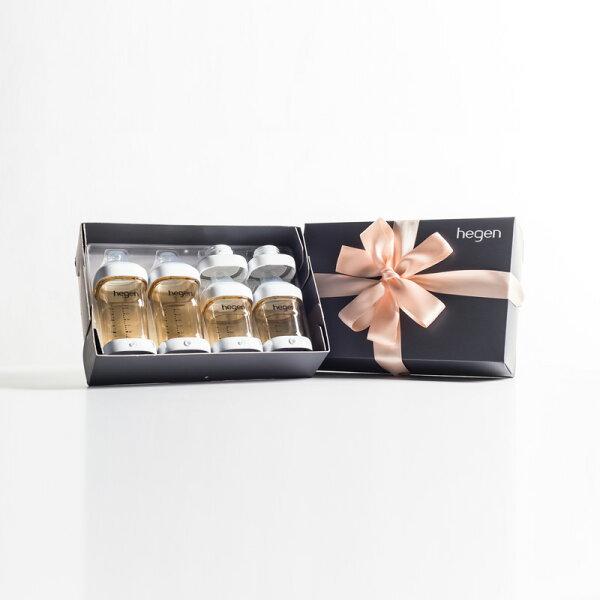 新加坡【hegen】祝賀新生經典奶瓶安心禮|全能系列(寬口徑)