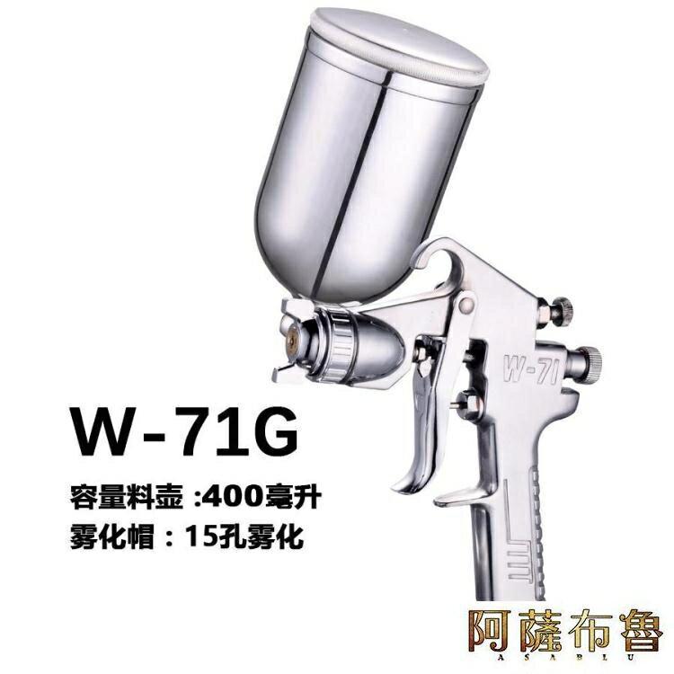 噴漆槍 原廠正品程能f75噴漆槍W71汽車家具油漆汽車高霧化氣動噴漆上下壺