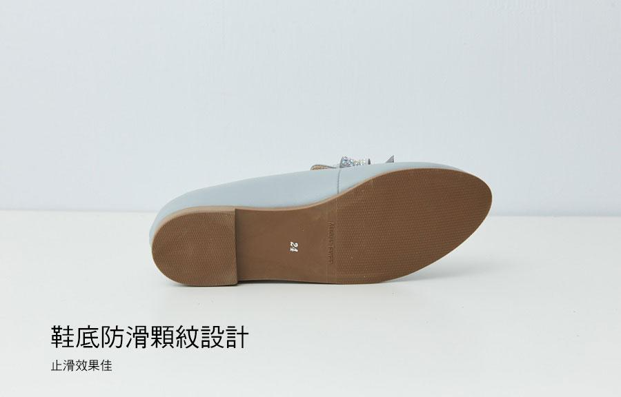 韓風燙鑽大蝴蝶結全真皮紳士鞋【QC151191480】AppleNana蘋果奈奈 8
