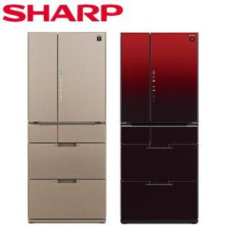 SHARP夏普 601L 日本原裝六門對開冰箱 SJ-GF60BT-R SJ-GF60BT-T (R星鑽紅 / T星鑽棕)