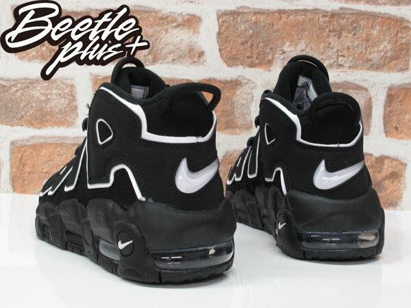 女生BEETLE NIKE AIR MORE UPTEMPO PIPPEN 黑白 大AIR 籃球鞋 415082-002 D-603 2