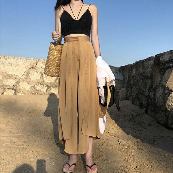 PS Mall 修身性感高腰顯瘦開叉半身裙【T595】 1