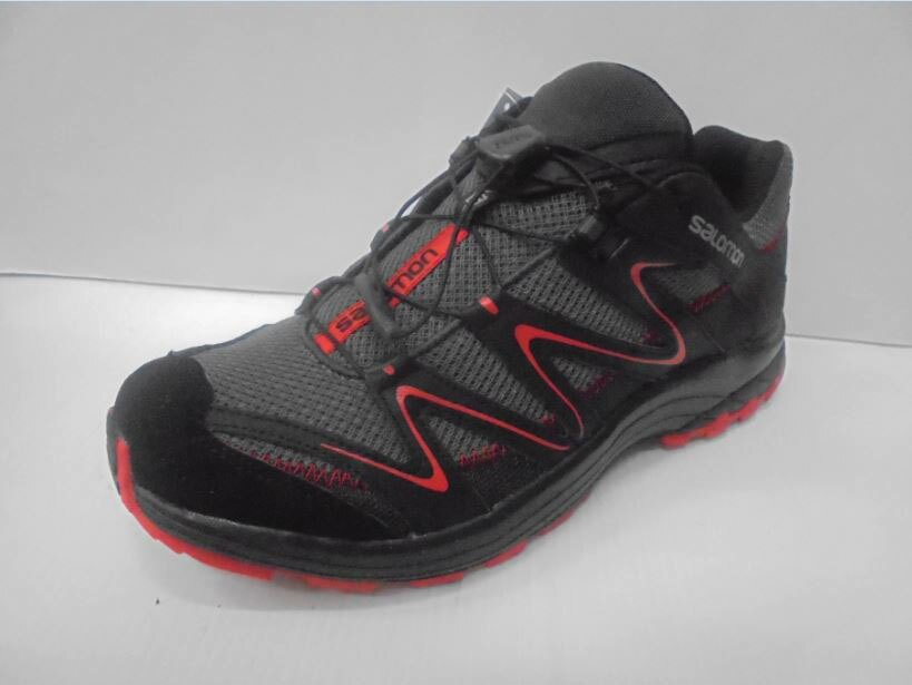 [陽光樂活]SALOMON TRAIL SCORE 男 野跑鞋- L38142000 公路灰x黑x璀璨紅