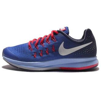 NIKE ZOOM PEGASUS 33 GS 女鞋 慢跑鞋 大童鞋 運動 氣墊 藍 紅 【運動世界】 834316-402