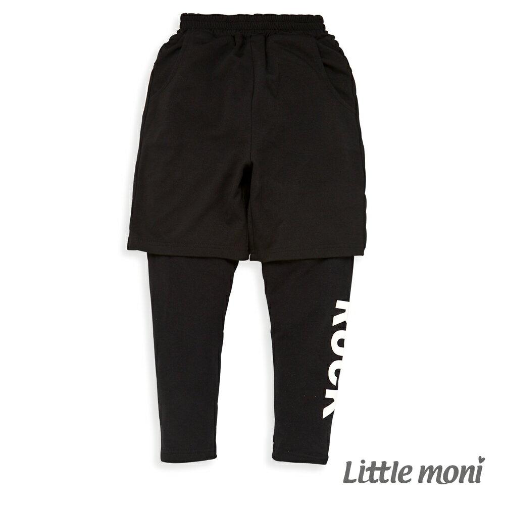 Little moni 假兩件運動長褲-黑色(好窩生活節) 0