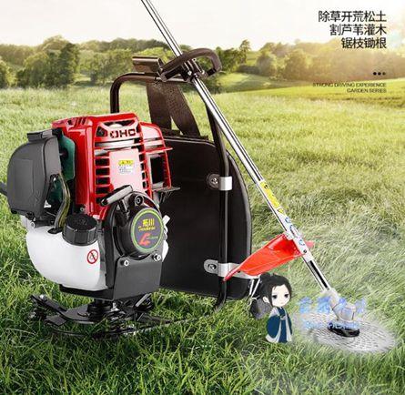 割草機 割草機四沖程背負式汽油小型多 農用除草鋤地收割灌開荒草坪