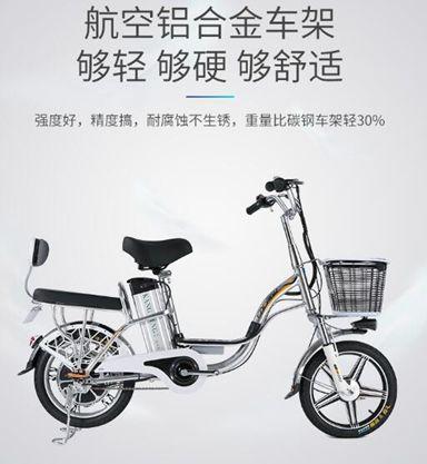 電動車 格士鈴16寸依蘭公主48V鋁合金鋰電池電動自行車外賣電動車  全館免運