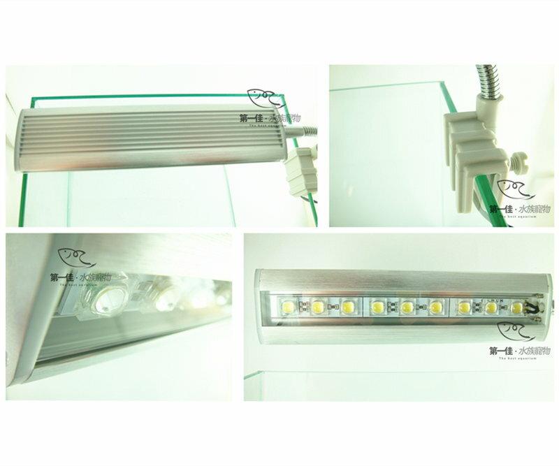 ^~第一佳 水族寵物^~ 伊士達ISTA 高亮度LED夾燈 ^~17cm~藍白燈 ^(銀^
