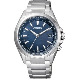 CITIZEN星辰CB1070 簡約 動能電波腕錶 藍面