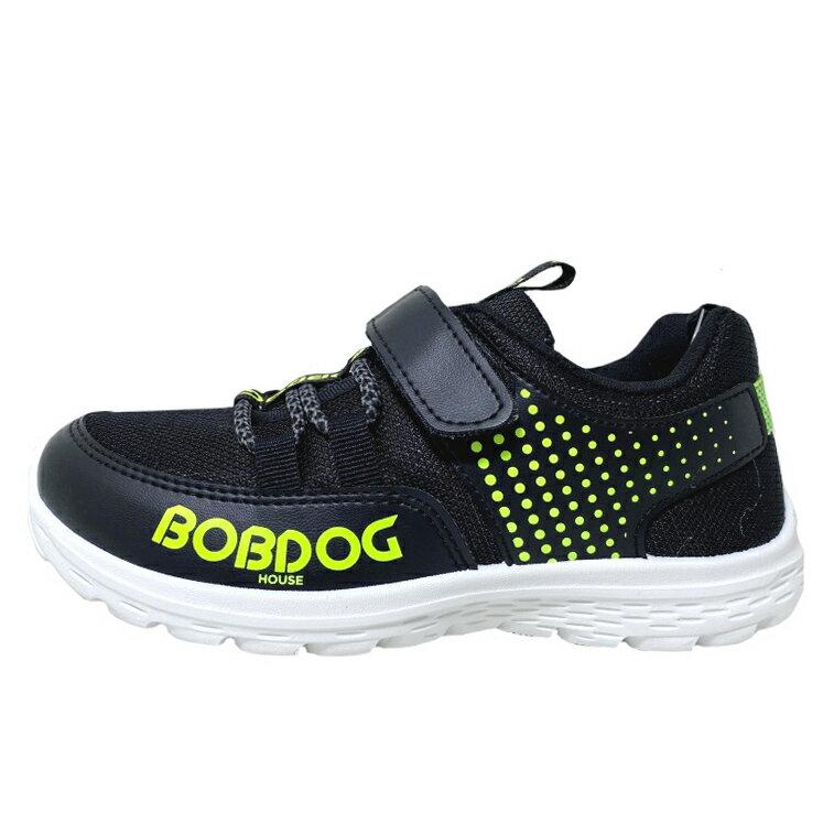 【滿額領券↘折$120】BOBDOG巴布豆 童款跳色休閒運動鞋 [BOB2328] 黑綠 MIT台灣製造【巷子屋】