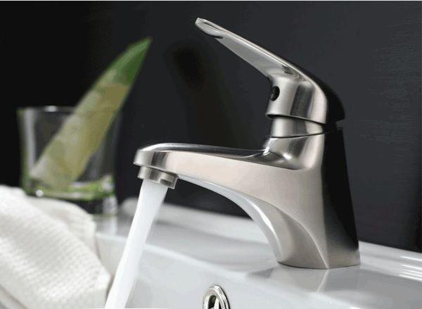 可愛 系列 水龍頭 冷熱出水 浴室面盆 洗臉盆 304不銹鋼(砂光) 安全無毒 環保新生活