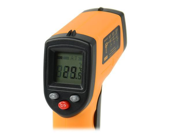 Non-Contact LCD IR Laser Infrared Digital Temperature Thermometer Gun Point GM320 -50~330  ºC 3