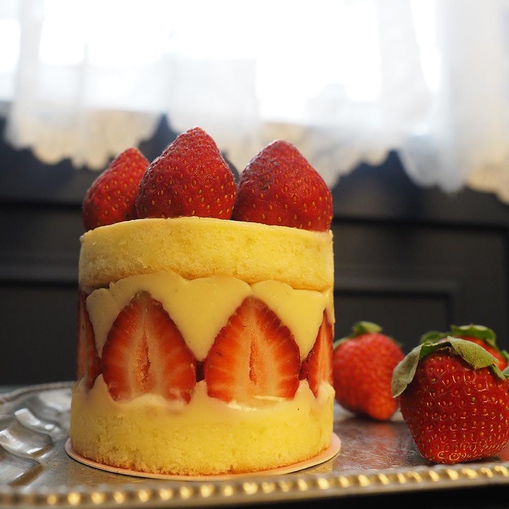 艾樂比 【法式草莓蛋糕】 3吋 個人版 冬季限定 蛋糕 甜點 草莓 aluvbe
