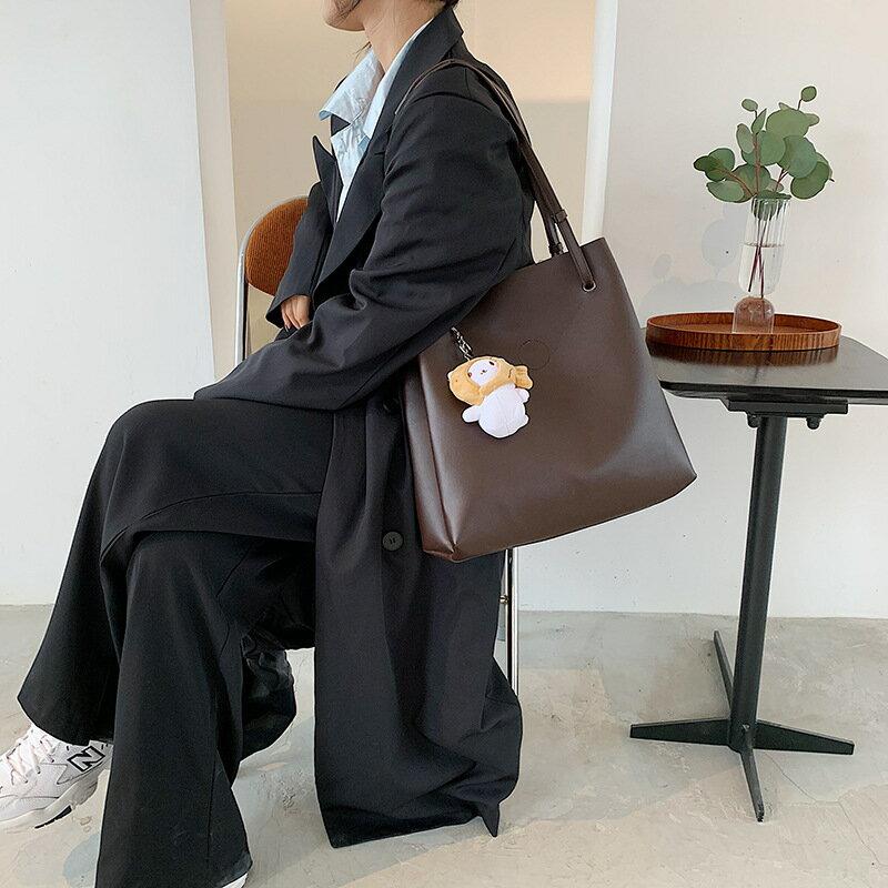 包包女斜挎包潮流大容量單肩包2020新款潮韓版簡約手提女包托特包