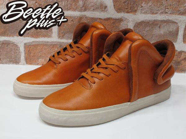BEETLE PLUS SUPRA FALCON CARAMEL 咖啡 土黃色 皮革 滑板鞋 S78004 US10.5 2