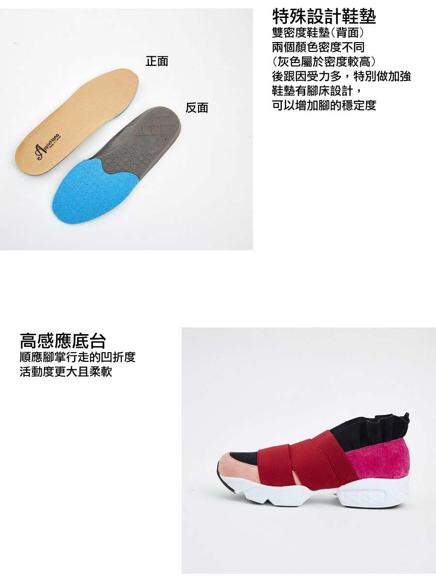 決戰運動時尚繃帶超彈性氣墊休閒鞋【QD81251480】AppleNana蘋果奈奈 5
