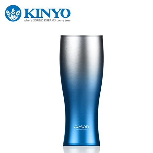KINYO 耐嘉 AS~M65BU 304不銹鋼真空保溫  保冷杯 藍~三井3C~