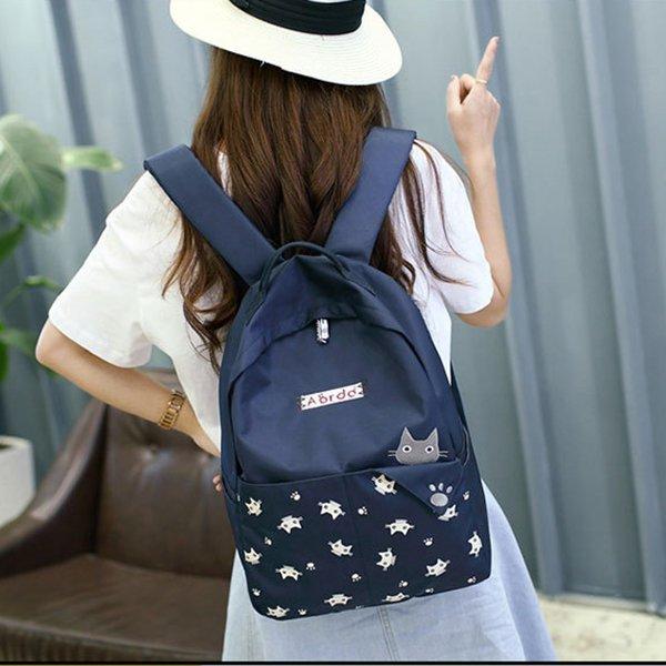 小貓咪旅行後背包 學生書包 手提包包~~夏日時光