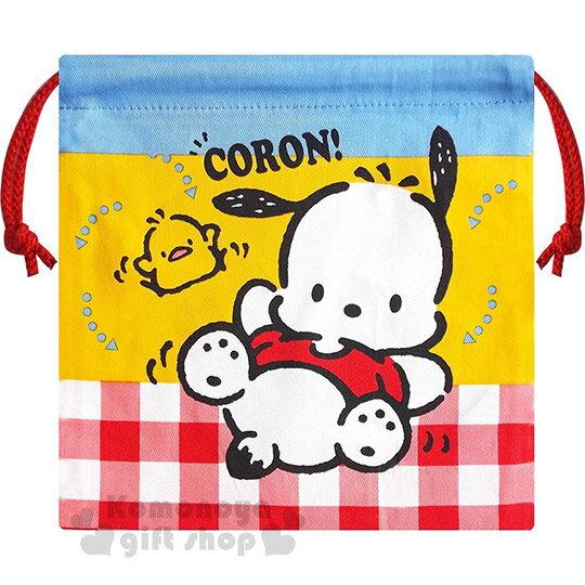 〔小禮堂〕帕恰狗 棉質束口袋《紅黃藍.舉雙手.小雞》