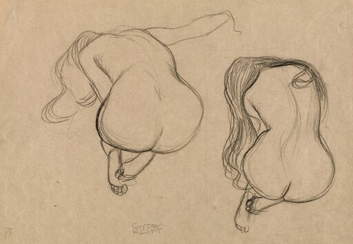 Klimt Seated Nude C1901 NTwo Studies Of A Seated Nude With Long Hair Oil On Canvas Gustav Klimt C1901 Rolled Canvas Art - (18 x 24) e3778e4aa534ca43017ce8aaca643cec
