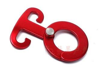 【【蘋果戶外】】AppleOutdoor AP-008 快扣 全新紅色鋁合金營繩掛勾 置物勾 杯勾 燈勾 非uniflame outdoorbase