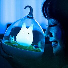 WallFree窩自在★童話景觀超萌小精靈LED床燈/小夜燈-愜意藍
