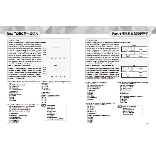 【預購】New TOEIC多益新制黃金團隊5回全真試題+詳解(附2MP3+防水書套) 8