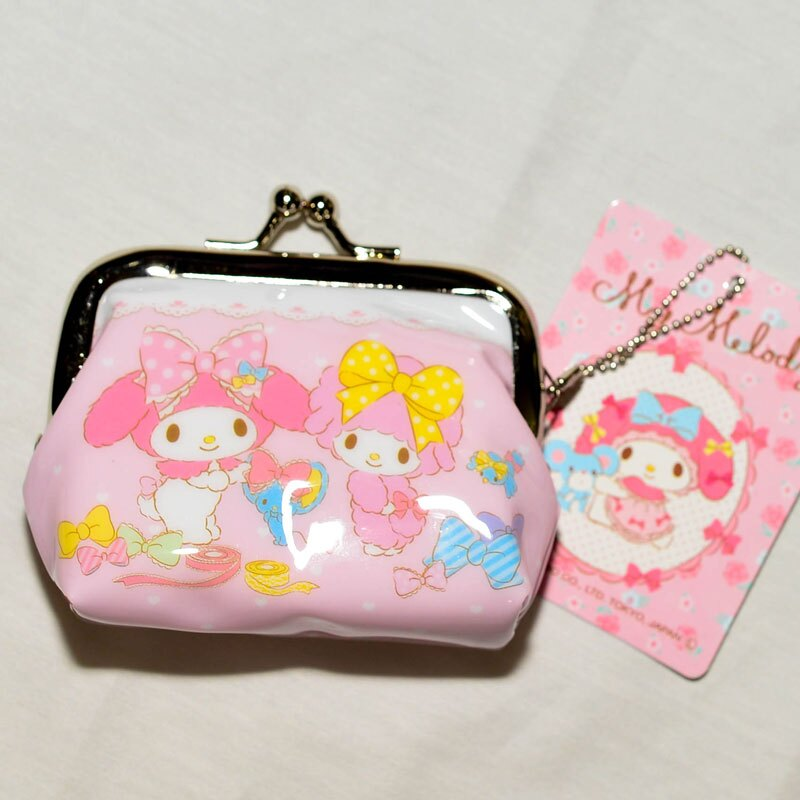 Melody 美樂蒂 與 PIANO 珠扣 口金 零錢包 日本正版商品