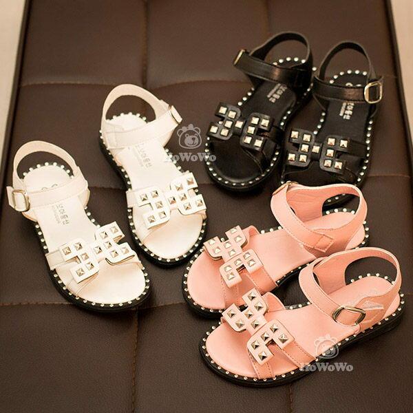 寶寶涼鞋 鉚釘PU皮小童 涼鞋 娃娃鞋 公主鞋  13.5~15.5CM  KL19 好娃