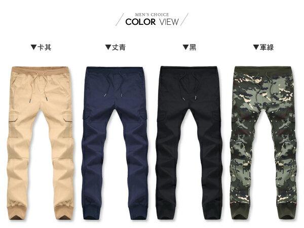 ☆BOY-2☆【NM88050】束口褲 素面口袋工作褲休閒縮口褲 1