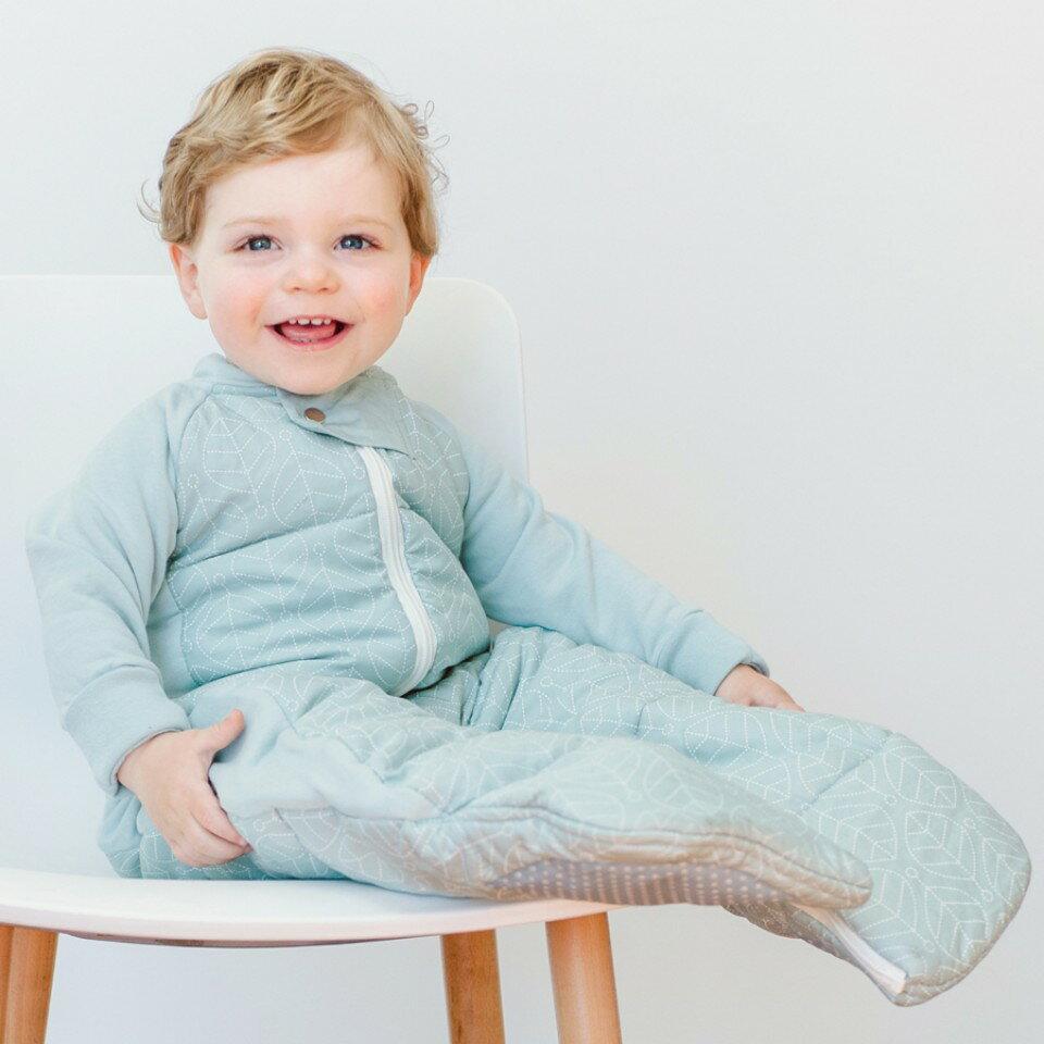 澳洲【ergopouch】2way 有機棉褲型防踢被-綠白葉 (3.5TOG 冬天專用) 1